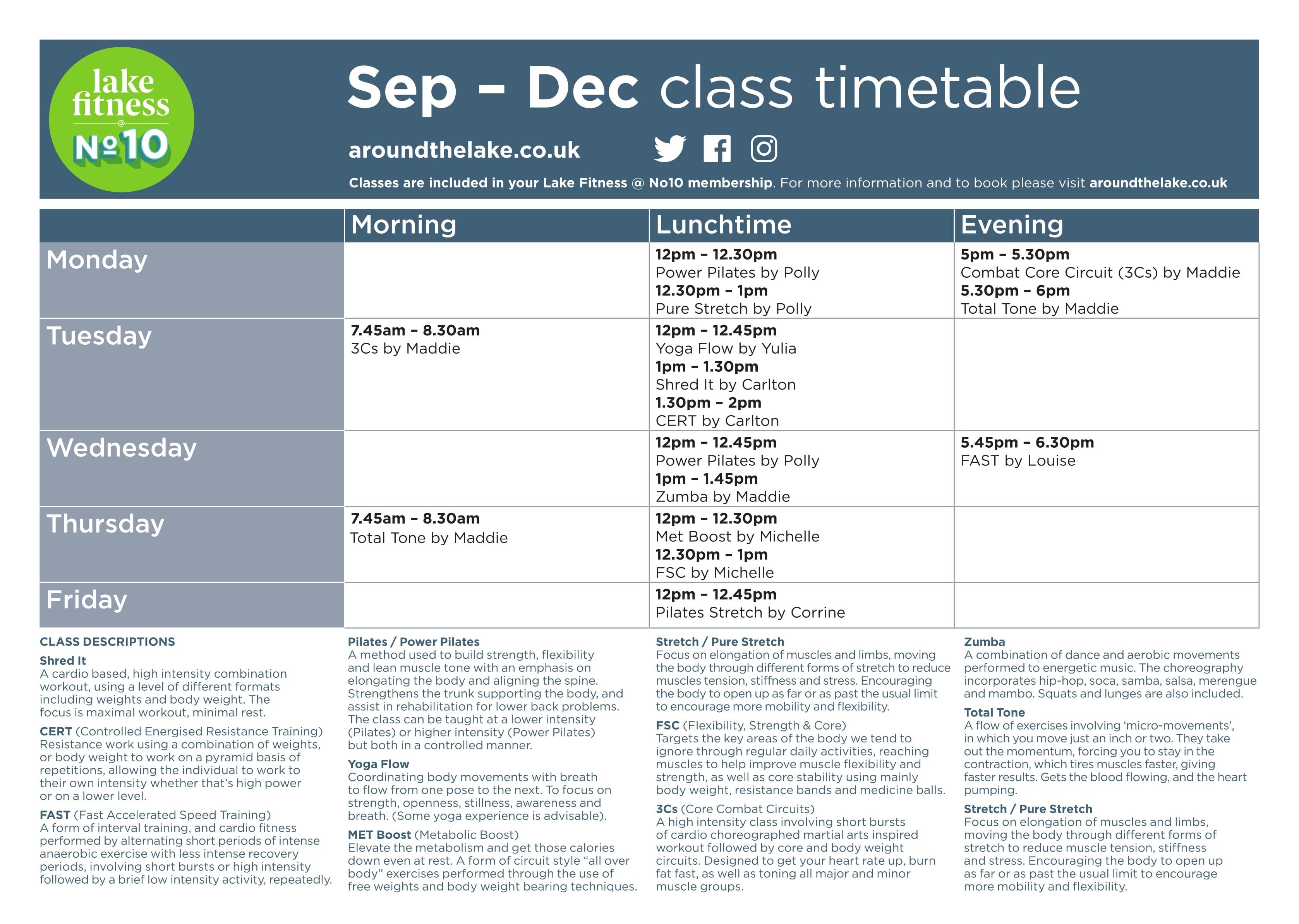 Class timetables v4-1
